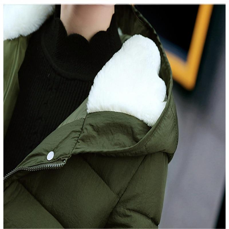 Plus Coatcq685 La Chaud 3xl Bas Capuchon Taille army Black 2017new Femmes red À Green Le long Hiver Femelle Survêtement Parka Épaissir Moyen Doux Laine Vers Veste Coton gray AUqTBw