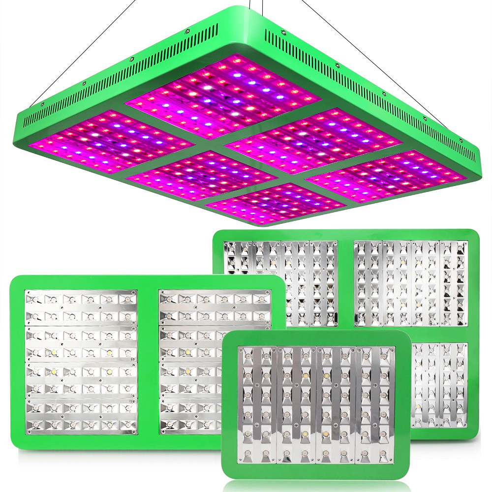 Reflector 300W 600W 1200W 1800W LED Grow Light With Double Switch Full Spectrum For Indoor Plant Flowering Growth Hydroponics