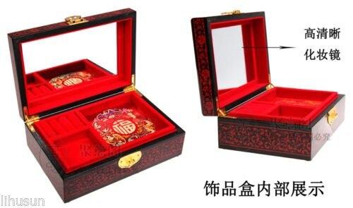 Novo chinês artesanal clássico laca de madeira