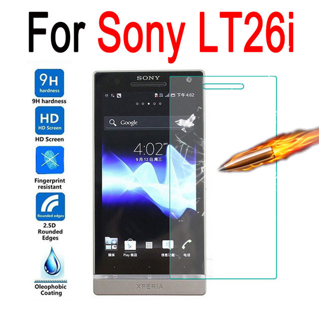 9H 2.5D Screen Protector For Sony LT26i Case Tempered Glass For Sony LT26i Glass Film Protective Premium Cover Anti-Explosion