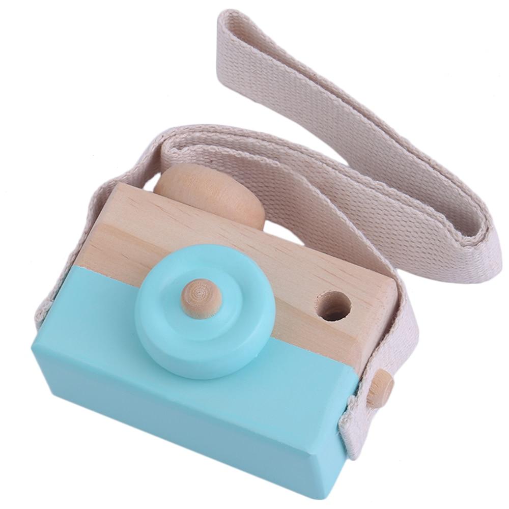 OCDAY игрушки Симпатичные деревянные игрушки Камера для мальчиков и девочек творческих шеи Камера реквизит для фотосессии Декор отличный под...