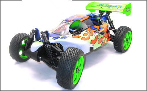 hsp gladiator l nitro off road truggy HSP Baja 4WD 1/8th Scale 21CXP Nitro Engine Off-Road Buggy BAZOOKA R/C Car 94081 Remote Control Toys