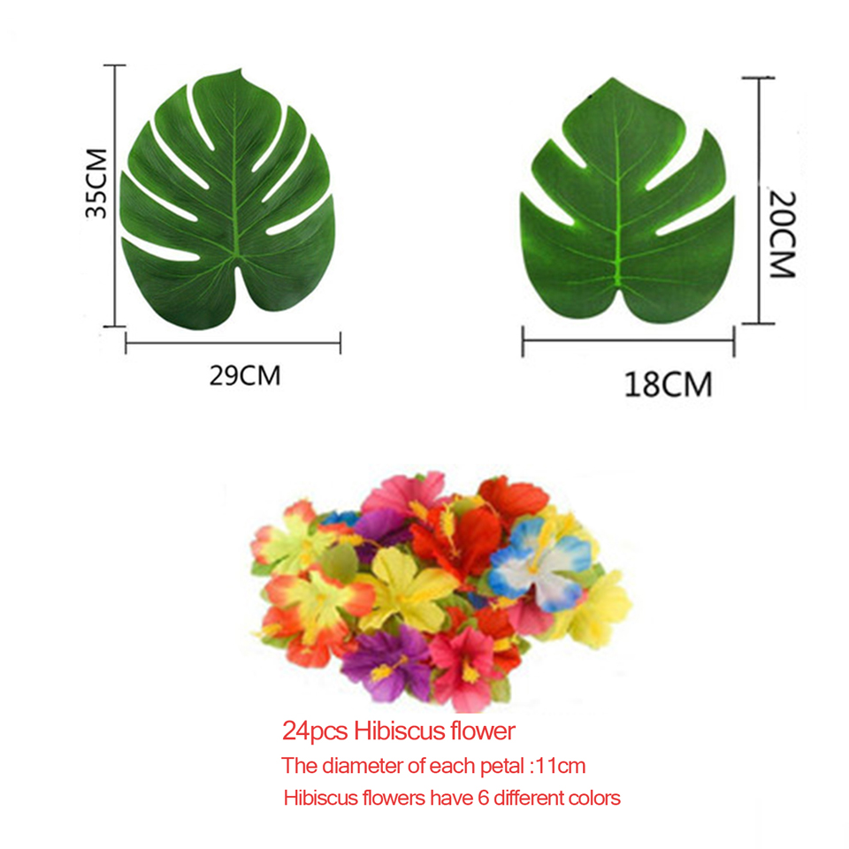 Tronzo 1224pcs tropical palm leaves vintage wedding decoration 1 izmirmasajfo