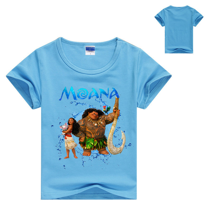 Summer Boy 39 s T shirt Popular Moana Cotton Short sleeved Printing T shirt Kids Boys Girls Cartoon Clothes DS19 in T Shirts from Mother amp Kids
