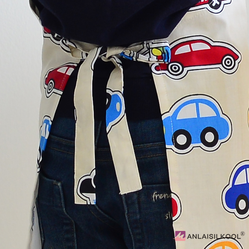 Us 16 15 4 Piece Set Korean Cartoon Aprons Sleeveless Drawing Performance Apparel Kids Apron Small Toy Car Pattern Colorful Cuisine Apron In Aprons
