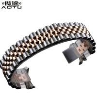 20MM Stainless Steel Watchbands For Rolex Men Watch Straps For Women Watch Band Metal Bracelet Belt