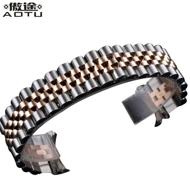 20MM Stainless Steel Watchbands For Rolex Men Watch Straps For Women Watch Band Metal Bracelet Belt Top Quality Clock Strap