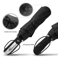 Compact Auto Open Close Automatic Travel Umbrella Teflon 210T Canopy 10 Rib Wind Resistant Frame Travel