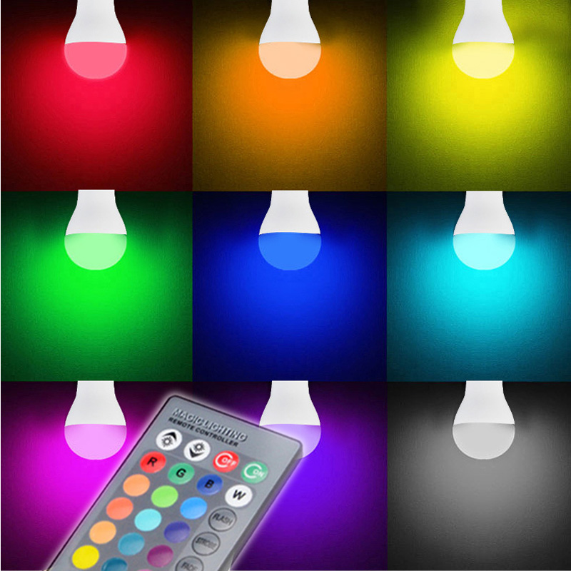 e27 e14 rgb led gl hbirne 5w 10w 16 farbwechsel led lampe ir fernbedienung ebay. Black Bedroom Furniture Sets. Home Design Ideas
