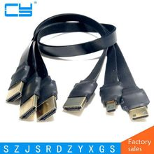 DIY FPV HDMI Type A Male to HDTV FPC Flat Cable for Multicopter Aerial Photography 0.1m/0.2m/0.5m/0.8m/1m