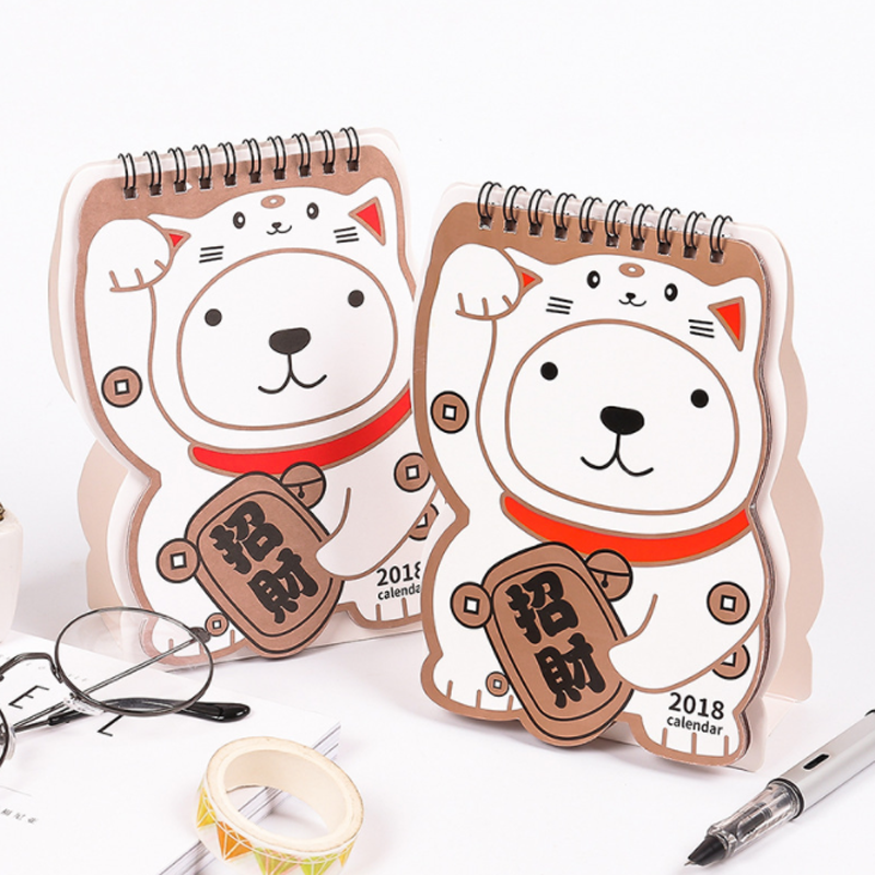 Calendar 1 Pcs Lovely Dog Calendar 2018 Calendars Desk Calendar Office School Stationery Supplies 2018 Calendar