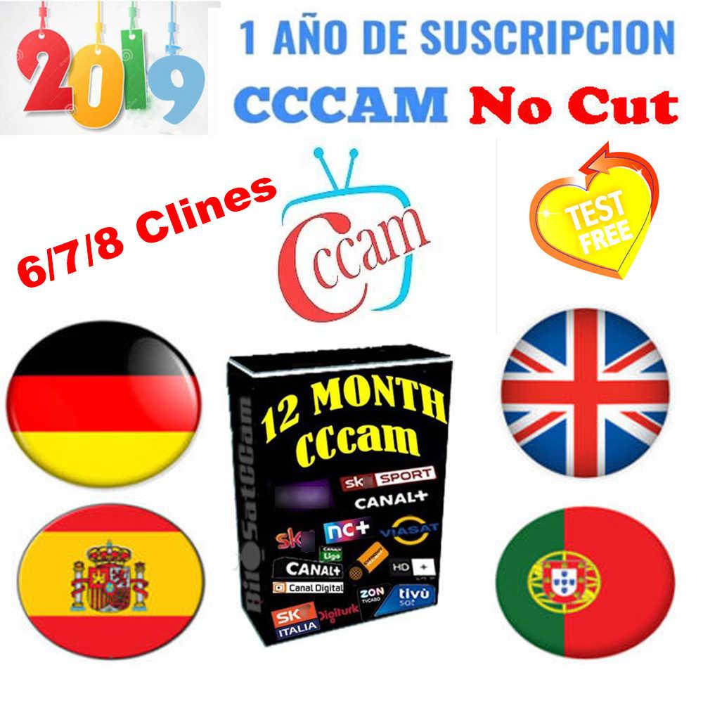 Лучший 6 7 8 CCCAM линий 1 год CCCam cline для 1 года Испания Польша Португалия Германия спутниковый ТВ приемник CccamFor DVB-S2 gtmedi