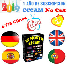 Best 6 7 8 CCCAM lines 1 Year CCCam cline for 1 year Spain Poland Portugal Germany Satellite tv Receiver CccamFor DVB-S2 gtmedi(China)