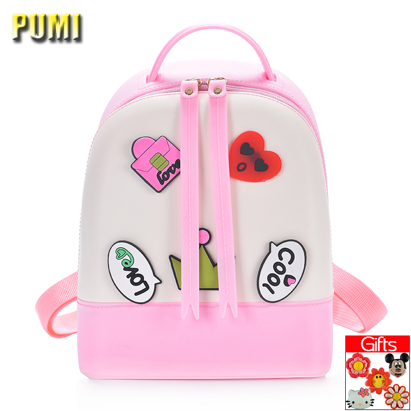 Cute Cartoon Medal Candy Color Silica Gel Backpack for Sweet Baby Girl Kid Children Backpack Women Casual Fresh Jelly School Bag фен smile hd 950 белый розовый