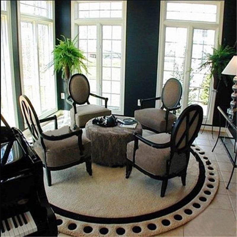 manual acrylic Round carpet rug gray living room sofa rugs bed bedroom fashion custom rug fitting room mat customizable