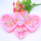 24pcs/set Mix Animals Rabbit Flower Heart Baby Kids Girl Children's Cartoon Rings With Display Box For Christmas Gift