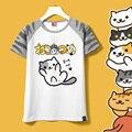 2017 meninas de verão camiseta harajuku camisa atsume neko anime dos desenhos animados japoneses kawaii roupas femininas casuais t-shirt cat tops tee