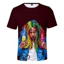 New arrival 6ix9ine 3D Short sleeve Anime Men And Women Funny Summer T shirt Print 3D casual Comfortable T shirt Tops