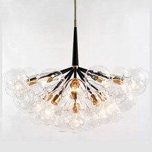 Glass bubble chandelier for Living room Bedroom Kitchen glass globe 9 /12 /20 Heads pendants chandeliers
