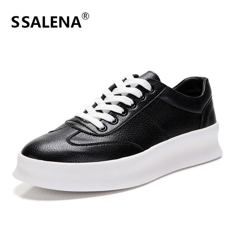 Hommes classique en cuir à lacets Sneaker vulcaniser chaussures étudiants bas Top chaussures vulcanisées Cool garçons plat chaussures décontractées AA11983