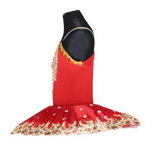 Image 4 - فستان باليه احترافي للبنات توتو للأطفال على شكل بحيرة البجعة فستان باليه أحمر للأطفال ملابس رقص للبنات