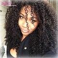 Human Hair Mongolian Kinky Curly Hair With Closure 3 Bundles Kinky Curly Virgin Hair With Closure Queen Love Hair Lace Closure