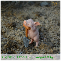 Everyday Collection Resin Struggling Pig Fairy Garden Miniatures Decoration Home Decoration Accessories