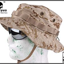 bb850ab62b8 EMERSON Boonie Hat camouflage hat Military Tactical Army Hunting Hat  Anti-scrape Grid Fabric desert