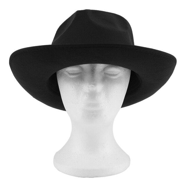 Aliexpress Com Manner Frauen Vintage Harte Filz Hut Breite Krempe