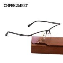 CHFEKUMEET Médicos dos homens Prescrição Óculos Armação de Metal Óptico  Miopia Hipermetropia Óculos Marca Designer Óculos de Lei. b95f2f0c9c