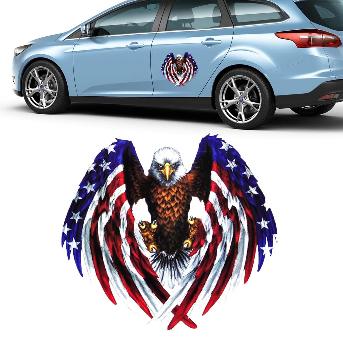 Car sticker eagle - Eagle American United States Usa Flag Sticker Decal Car Bumper Bike Laptop Window For Vw Ford