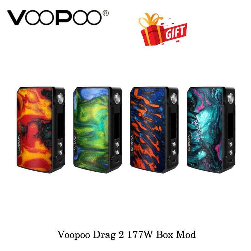 Voopoo Glisser 2 177 W TC Boîte Mod GÈNE. FIT Puce Alimenté Par Double 18650 Batterie Vaporisateur Vaporisateur Kit électronique cigarette VS VOOPOO 157 W