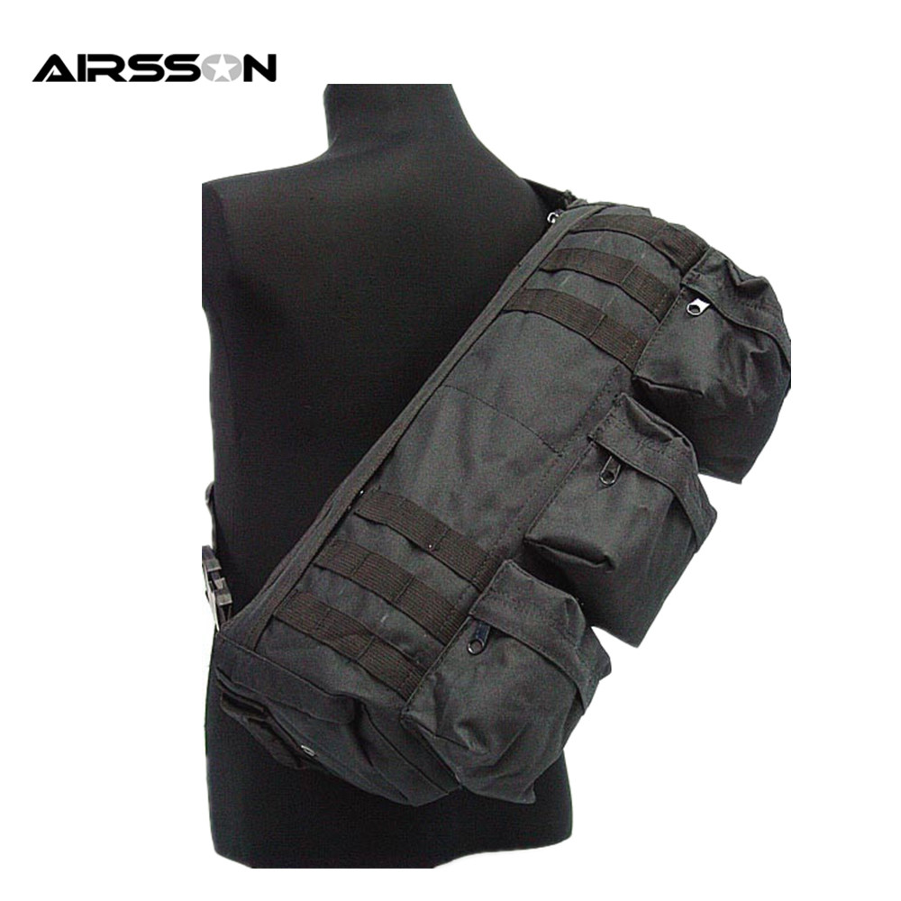 Prix pour Airsson Armée Militaire Assaut de travers Transformateurs Aller Sac Épaule Tactique Sac Airsoft Chasse Sac pour Fusil Pistolet Accessoires