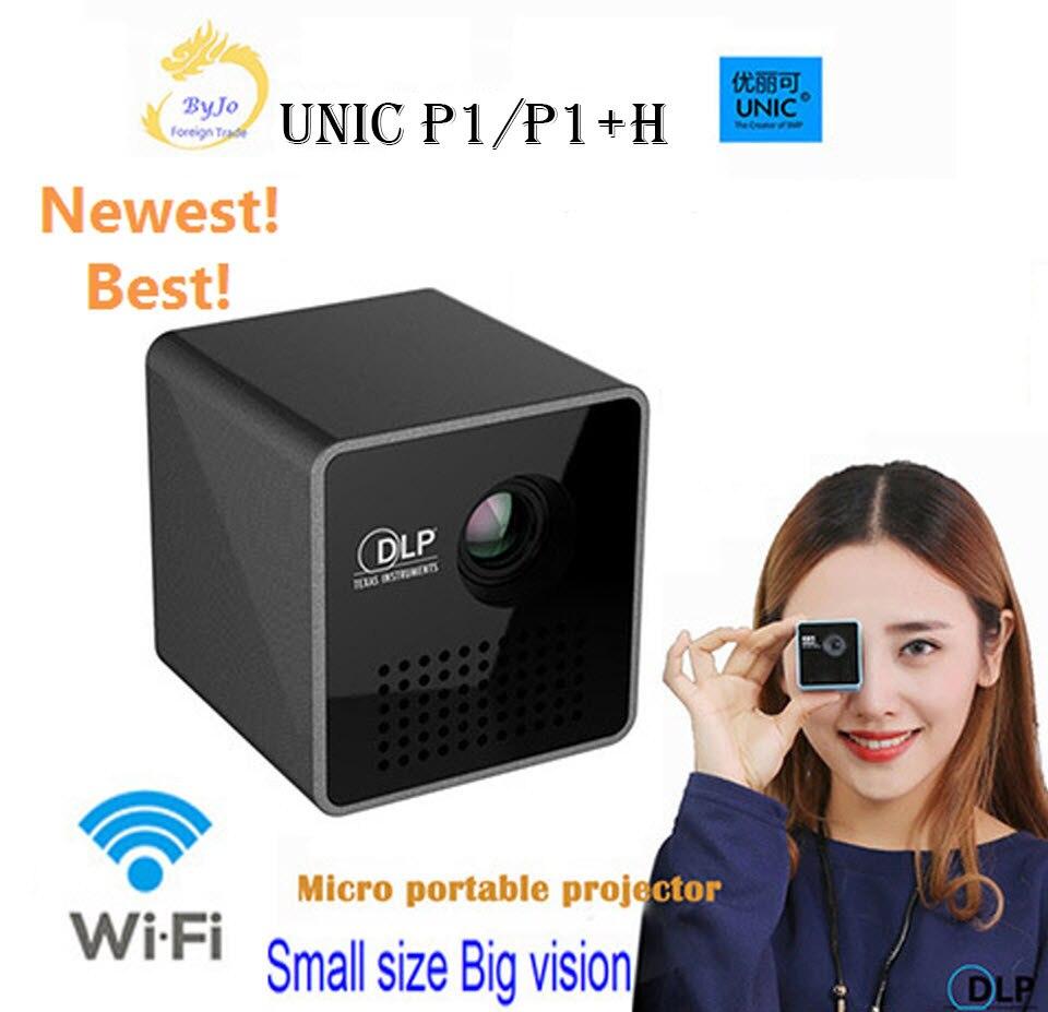 Projecteur de la série UNIC P1 + H ou P1 projecteur de cinéma maison de poche projecteur projecteur projecteur Mini DLP mini projecteur P1 + H wifi