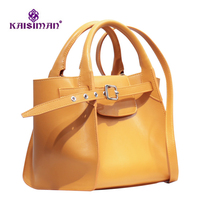 Autumn and Winter Star Fashion Show Handbag 100% Genuine Cowhide Leather Trapeze Bag Women Shopping Bags Real Leather Tote Bags