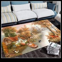3D Color Printing Living Room Carpet 3000mm Large Size Rug Coffee Table Rugs Bedroom Bedside Mat Entrance Hall Bay Window