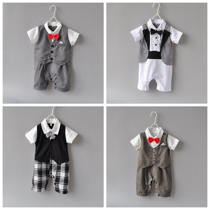Baby Rompers Short Sleeve Baby Boy Clothing Jumpsuits