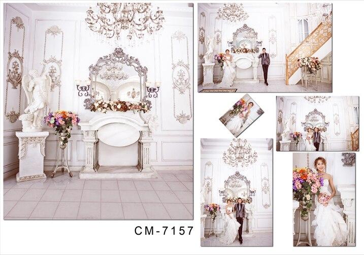 5X7ft Elegant indoor light decoration wedding Computer-printed vinyl Photo backgrounds backdrop for Photo studio
