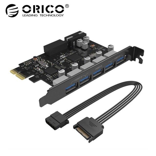 USB3.0 PCI-E карты расширения 5 Порты концентратор адаптер внешний контроллер Express Card добавить на карты с 4-контакт Мощность разъем шнур