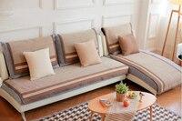 90cm Sofa Towel Slipcover Plaid Cotton Sofa Towel Sectinal Sofa Cover Slip Resistant Three seat Sofa Towel Cover Home Textile