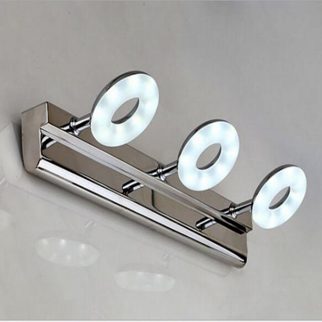 mirror lamp. 3 heads mirror light led bathroom wall lights flexible arm mirrors front lamp makeup sconce a