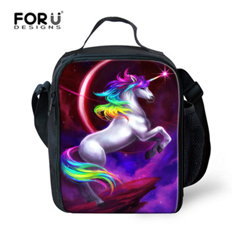 FORUDESIGNS New Unicorn Picnic <font><b>Bag</b></font> 3D Printed for Baby Kids Insulated Lunch Box Thermal Children Food <font><b>Bag</b></font> Women Cooler <font><b>Bag</b></font> Tote