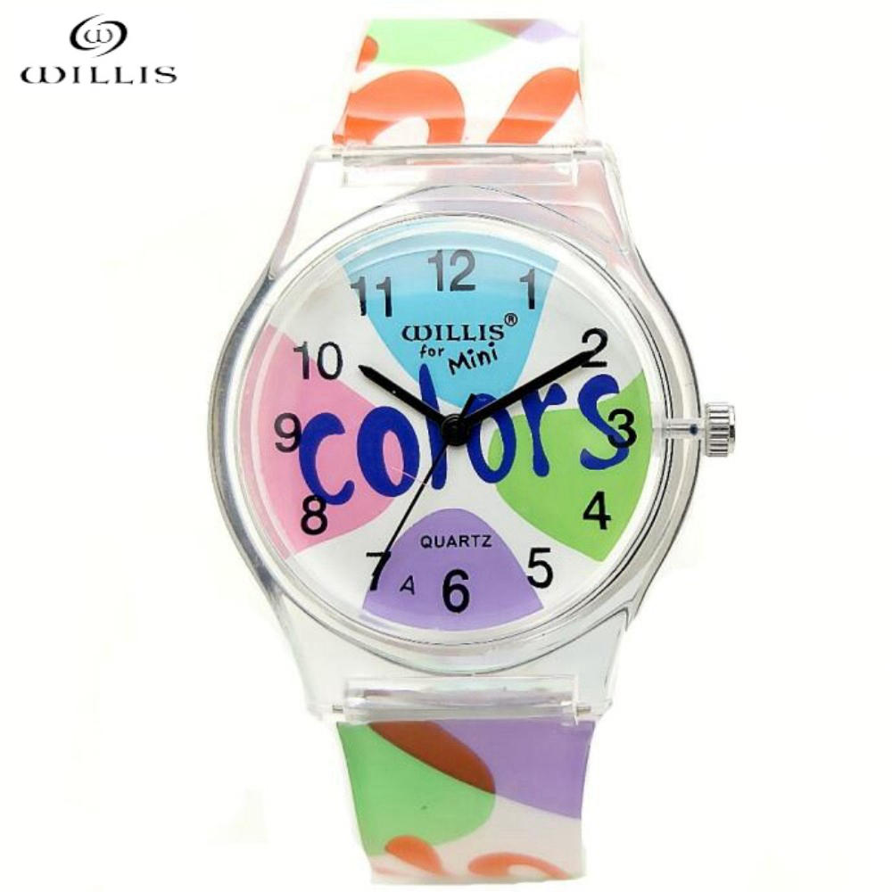 WILLIS Brand sports Watches Fashion Casual For Ladies Quartz Watch Waterproof Children Silicone Jelly Dress Wristwatch New 2017 kids watches children silicone wristwatches doraemon brand quartz wrist watch baby for girls boys fashion casual reloj