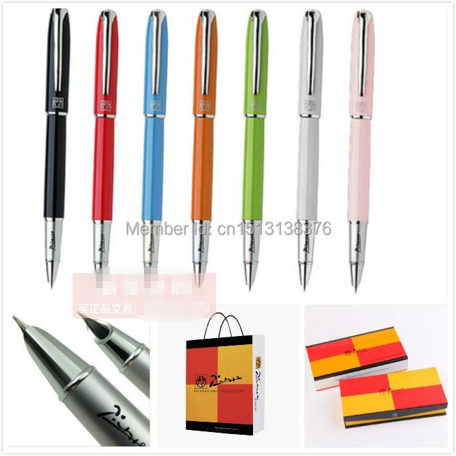 Free Shipping Pimio Picasso Fountain Pen 916 A Stainless Steel Fountain Pen EF 0.38mm Students Pen Green/White/Black/White Color