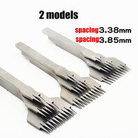 NEW Leather Tools Treatments Crafts DIY stitching punch Pricking Iron 3.38mm /3.85mm spacing