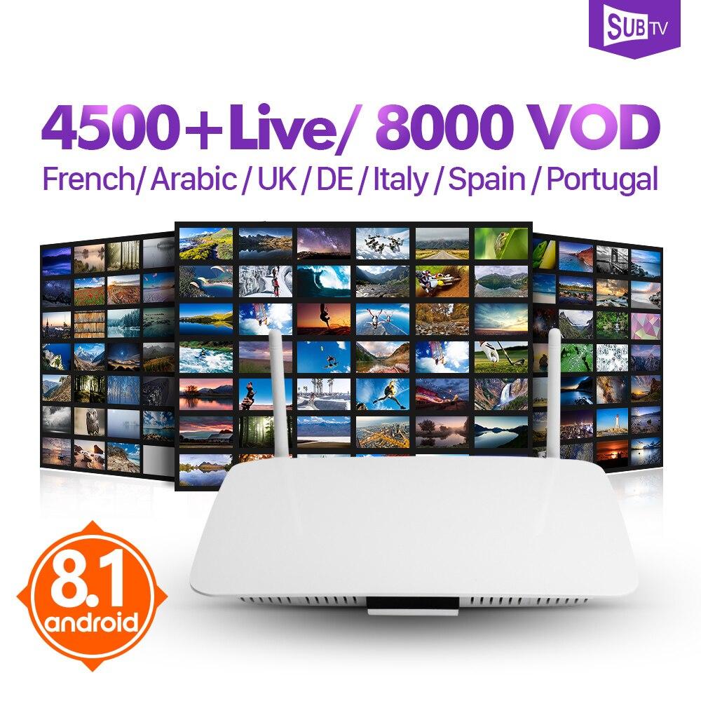 IPTV Frankreich box Q1404 Android 8.1 TV Empfänger Arabisch IPTV box Leadcool IPTV 1 jahr Frankreich Arabisch Belgien Türkei Portugal IP TV