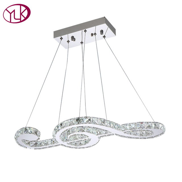 Modern crystal light chandelier luxury dining room hanging lighting modern crystal light chandelier luxury dining room hanging lighting fixture music note design led lustres de aloadofball Choice Image