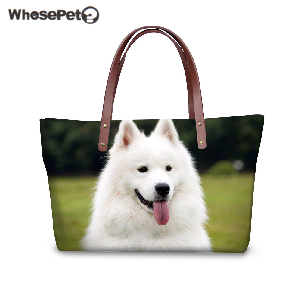 8d8cdaefba WHOSEPET Women Handbag Cute Dog Pattern Shoulder Bag 3D Animal Printing  Top-handle Bags Teenager