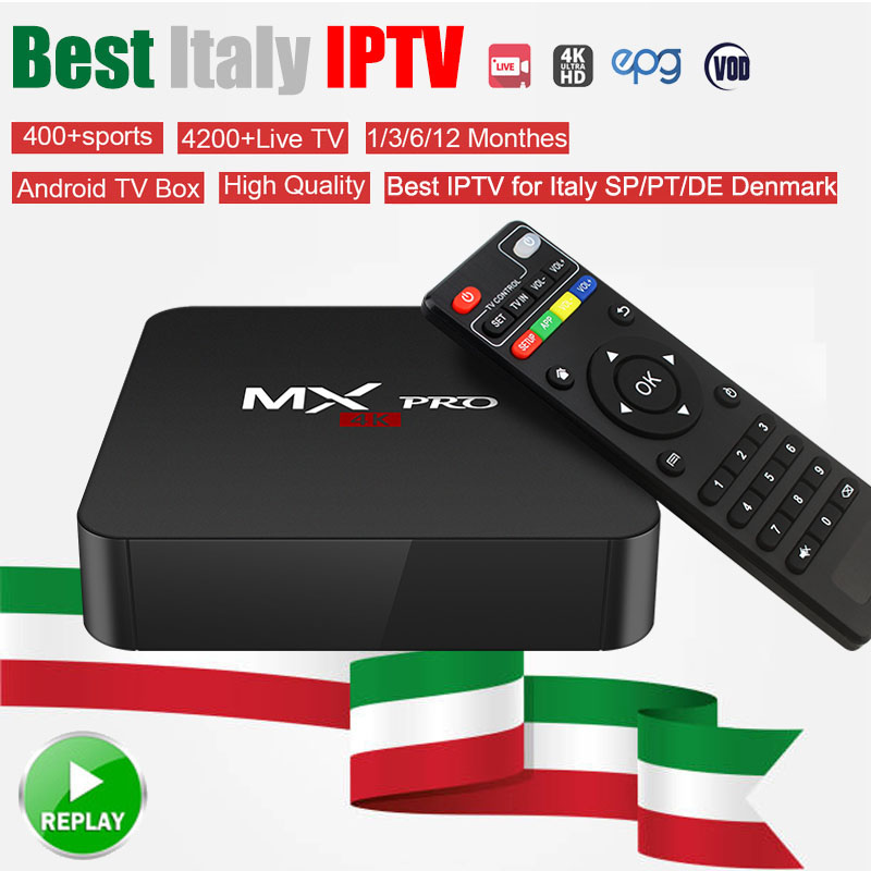 Best Italian MX Android Box Smart TV Europe IPTV 5000 Live+20,000 VOD France Albania Swiss DE UK Italy Adult HotClub Italy IPTV italy iptv a95x pro voice control with 1 year box 2g 16g italy iptv epg 4000 live vod configured europe albania ex yu xxx