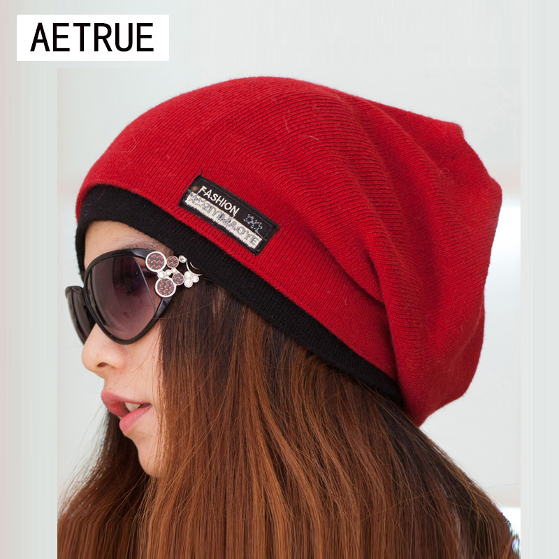 Beanies Scarf Winter Hat Warm Caps Skullies Winter Hats For Women Girls Knitted Lady Brand Beanie Scarves Balaclava Cap New 2019